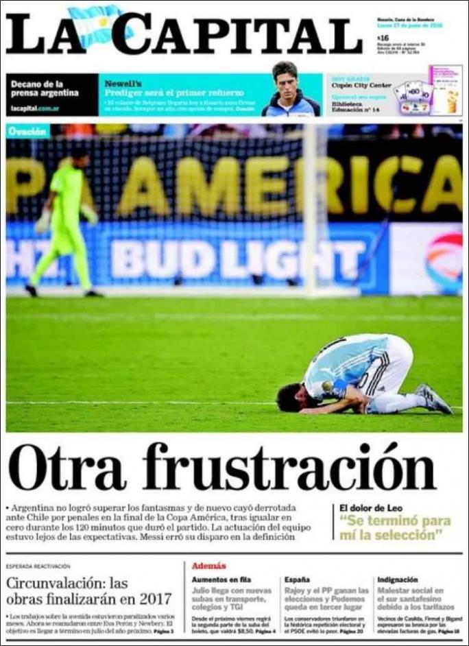 La renuncia de Messi en la tapa de los diarios del mundo
