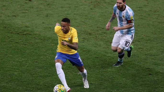 Bauza probó el equipo que enfrentaría a Brasil