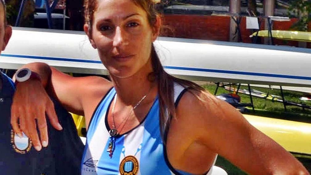 Laura Abalo, remera de la delegación argentina.