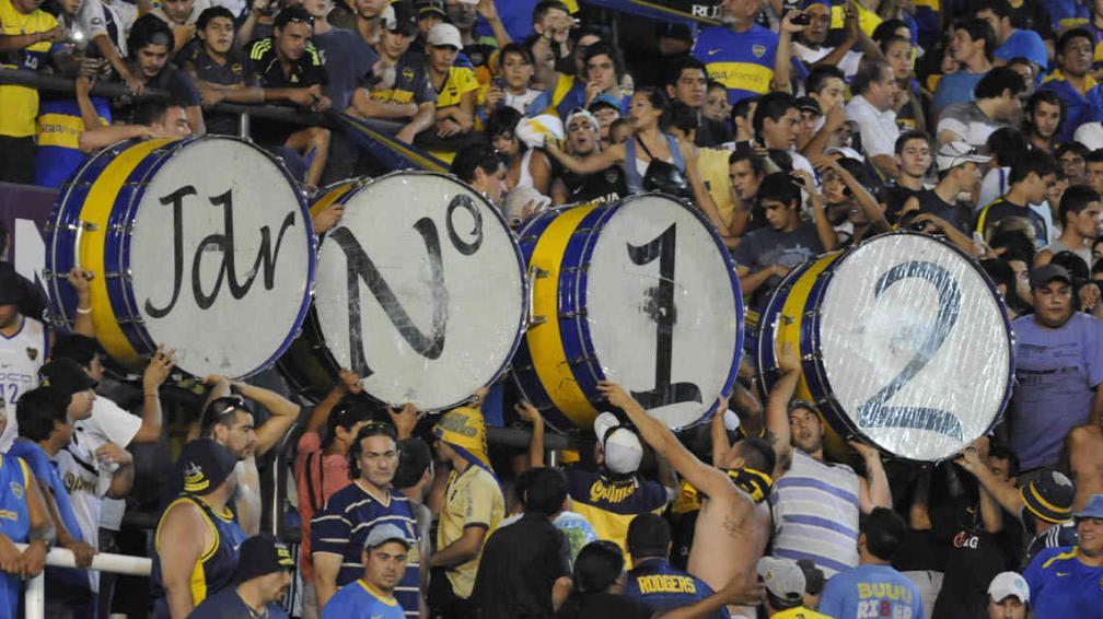 """La barra de Boca es """"la 12"""". Por eso, River sacará la camiseta del mismo número (Foto: Fotobaires / Archivo)."""