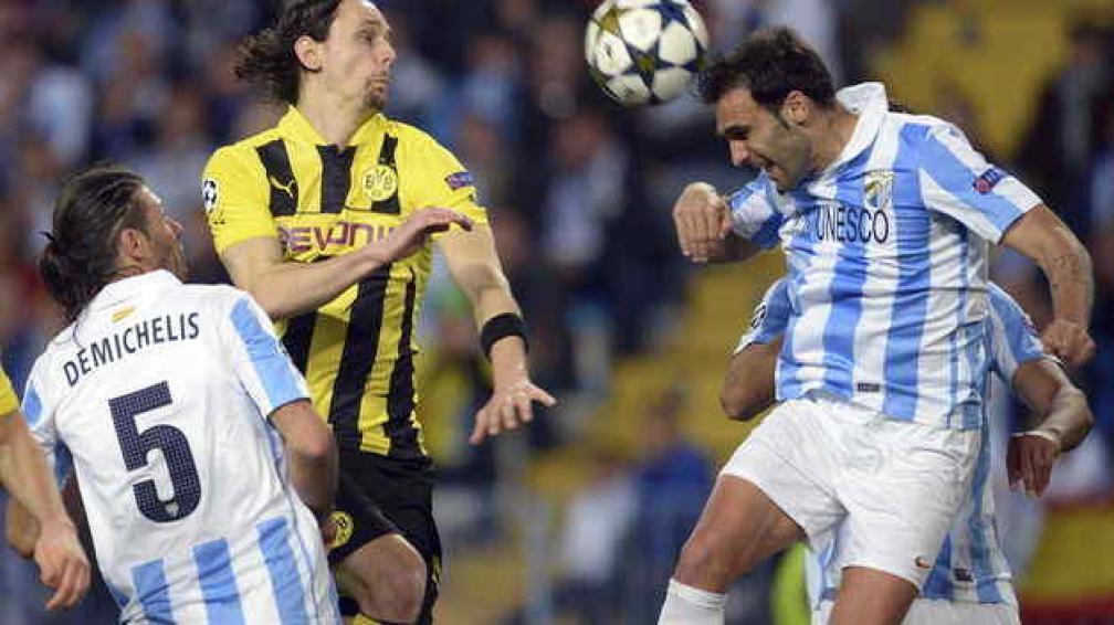 Málaga no pudo sacar ventajas en la ida. En la vuelta, con un empate con goles, pasa. (Foto: AP)