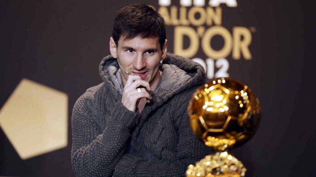 Messi batió otro récord al conseguir el cuarto Balón de Oro (Foto: AP).