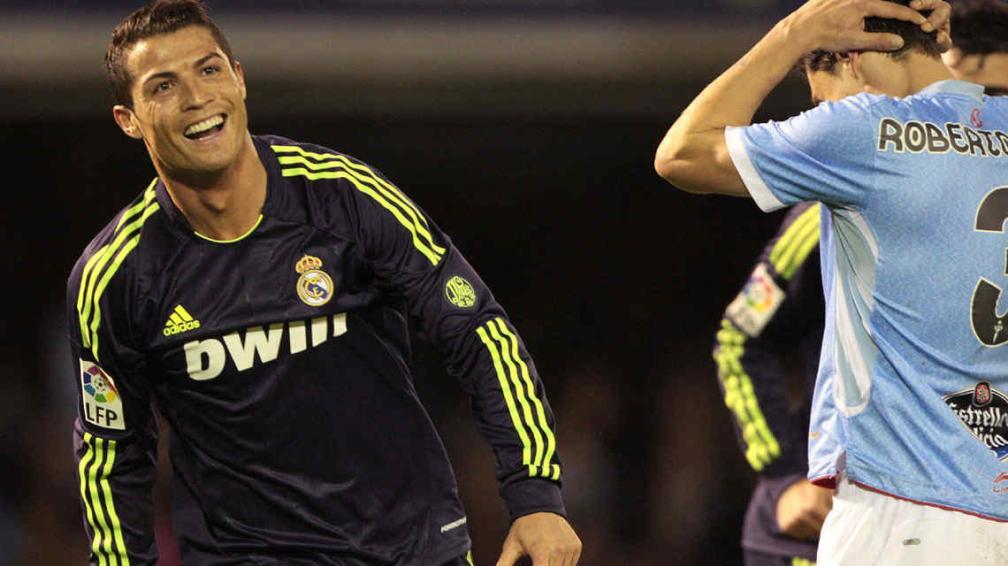 Festeja Cristiano Ronaldo por el doblete ante el Celta (Foto: AP).