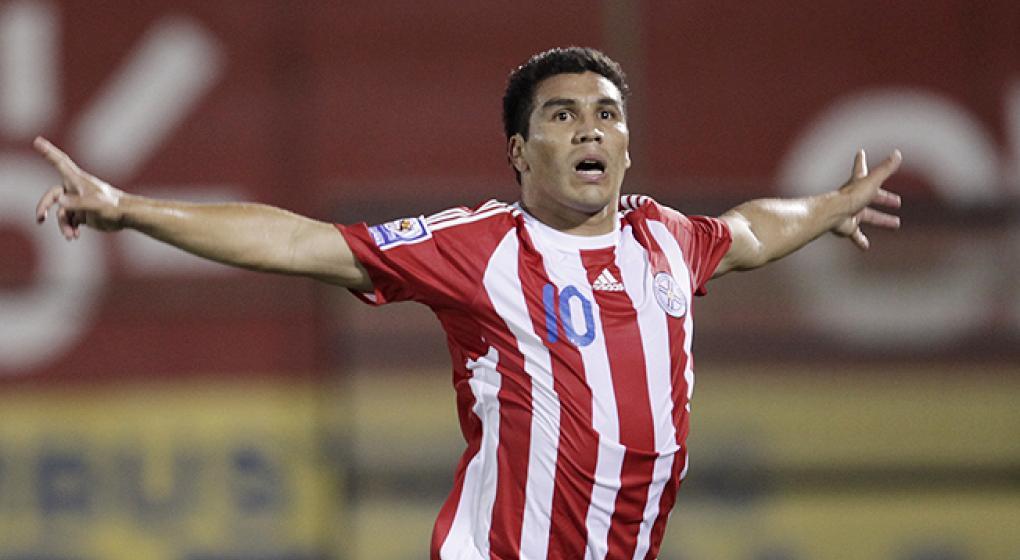 Salvador Cabañas con Paraguay previo a Sudáfrica 2010