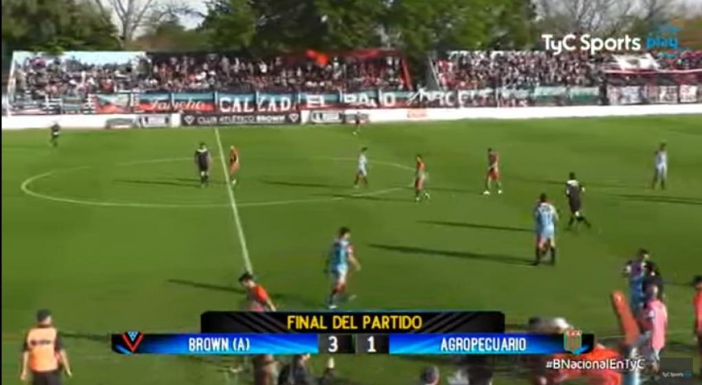 Mirá en vivo Brown de Adrogué vs Agropecuario por TyC Sports Play