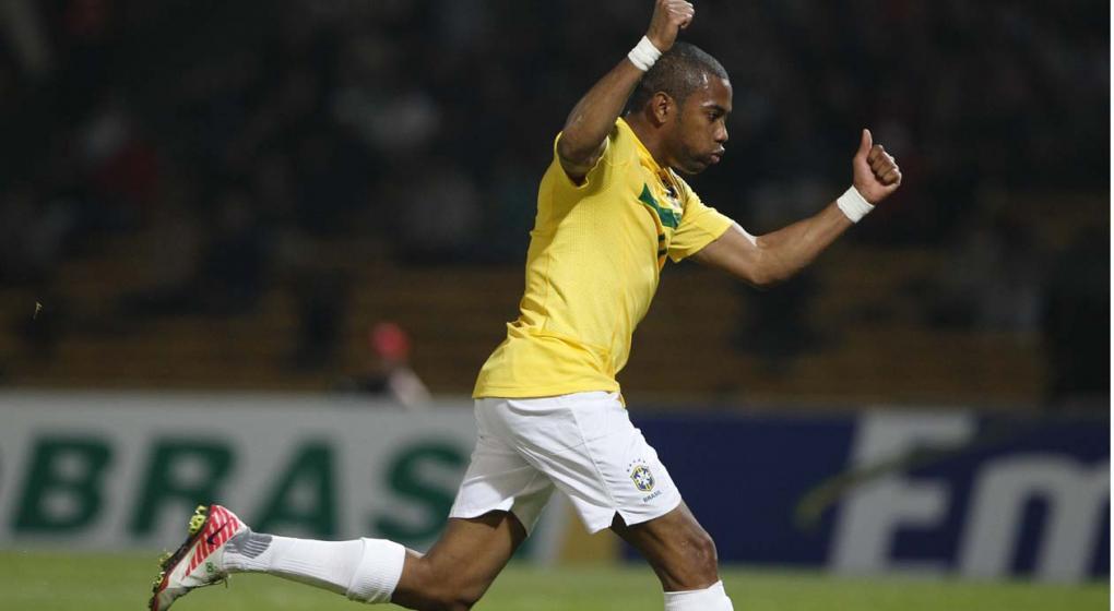 Robinho encabeza nómina de Brasil para juego amistoso ante Colombia