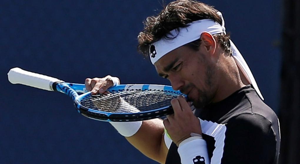 Fognini es suspendido del US Open por insultar a un árbitro