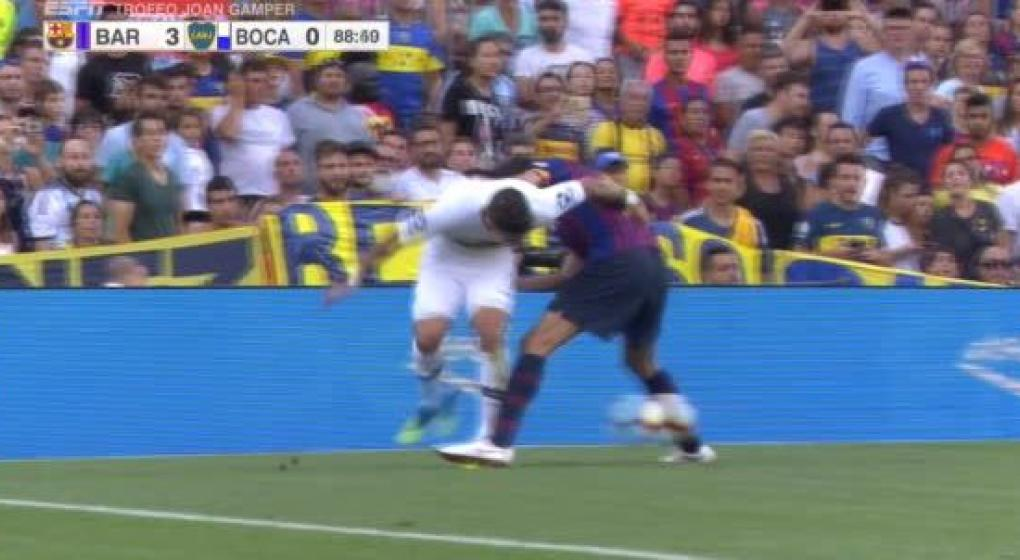 The pipe from Pavón to Busquets, in Boca-Barcelona | MundoD, The best sports website in Córdoba