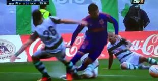 """¡Qué patada! Así se fracturó Zacaría, un argentino de la """"U"""" de Chile"""