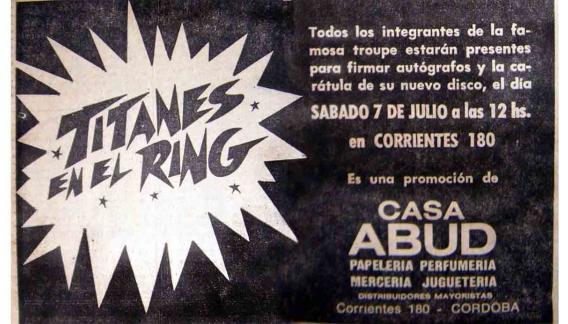 Los comercios adhirieron al magnetismo de Titanes en el Ring.