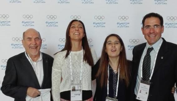 (De izquierda a derecha): Jorge Cattaneo, María José Majul, Andrea Zabala