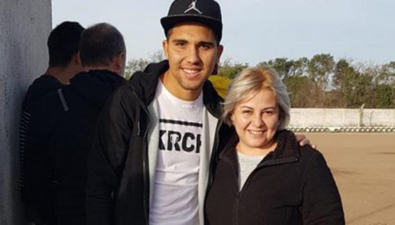 Emanuel Reynoso con la flamante presidenta del Cibi, Patricia Páez.