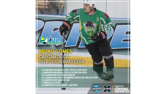Bruno Gomez, capitán de la Selección de Brasil de Roller Hockey. (CBAX)