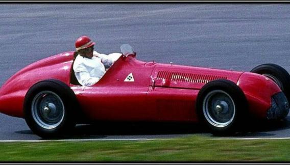 El Alfa Romeo 158 de Juan Manuel Fangio, ganador en la segunda fecha del año ´50.