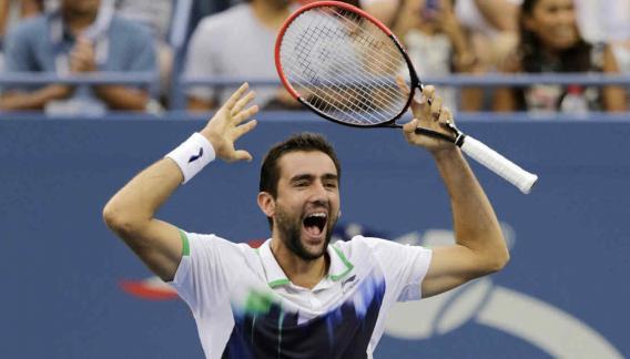 Federer cayó ante Cilic y se quedó sin final en el US Open (Foto: AP).