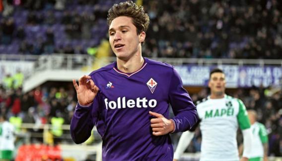 Chiesa, jugador de la Fiorentina e hijo del ex internacional italiano Enrico Chiesa.