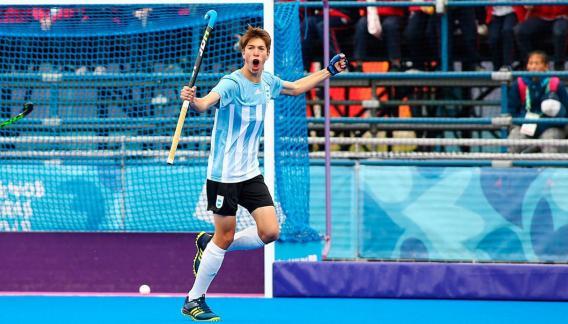 El cordobés Gaspar Garrone abrió el marcador argentino frente a México. (prensa CAH)