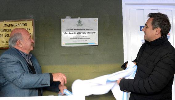 Miguel Grasso (presidente de la Confederación Argentina) y el intendente Ramón Mestre, en la inauguración. (Prensa Municipalidad de Córdoba).