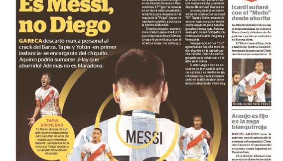 En Perú, ya se palpita el partido decisivo con Argentina. Aquí, la tapa de Líbero.