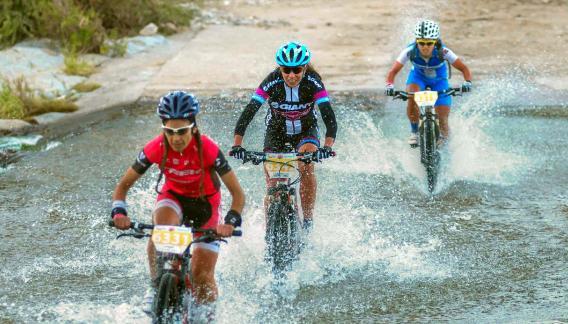 Un cuadro único. Ciclistas y público, mancomunados en una escenografía especial. Es la carrera en la que festejan todos los que participan.