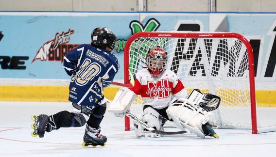 Se practica desde temprana edad en técnicas del patinaje, pase, recepción, tiro y tácticas específicas por medio de juegos. (CBAX)