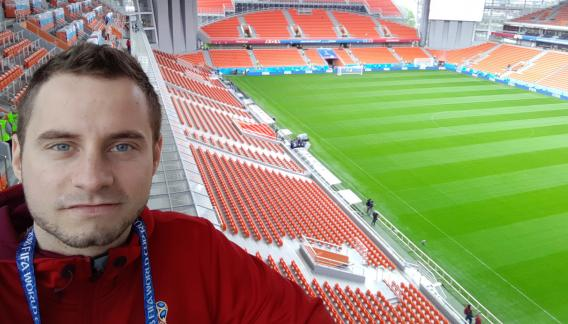 Durante el Mundial, Juan trabajará en el Estadio Central de Ekaterimburgo.