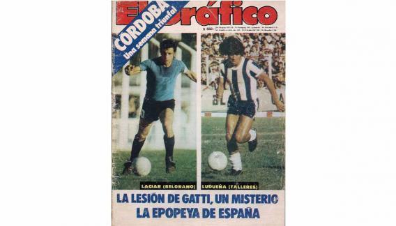 Talleres y Belgrano, tapa de la revista El Gráfico del 6 de diciembre de 1977.