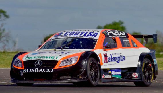 Matías Rodríguez, con el Mercedes, fue segundo en Paraná (Foto: Télam).