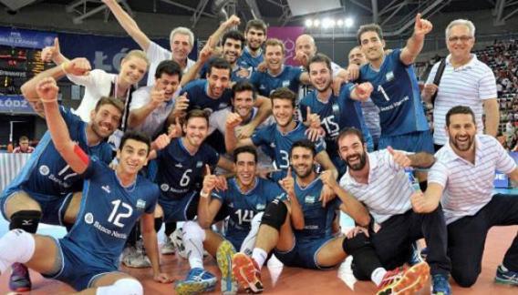 Festejo para Argentina después de un histórico triunfo sobre Rusia.