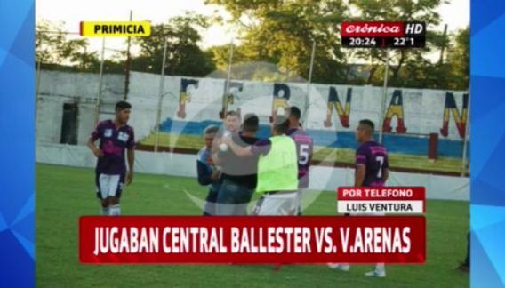 Brutal agresión a Luis Ventura en un partido de fútbol