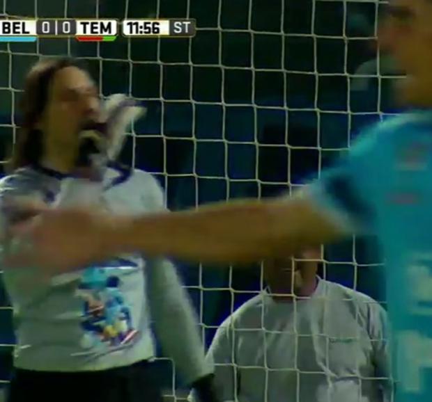 Belgrano: Olave explicó por qué hizo el gesto de cerrar la boca