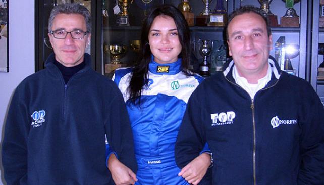 Inessa Tushkanova, la bella ucrania que correría el Mundial de Rally con el equipo Top Run.