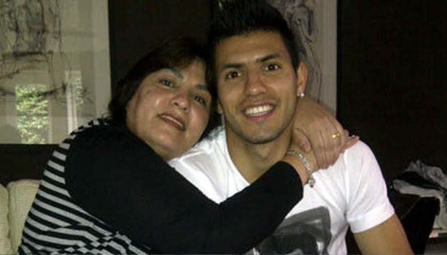 Photo of Sergio Agüero & his  Mother  Adriana Agüero