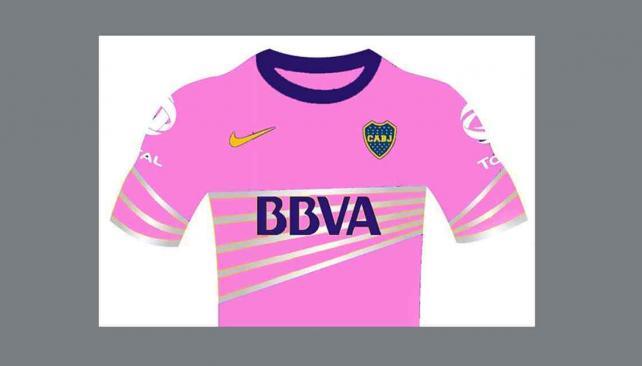 Uno de los dibujos que circula en la web con la camiseta de Boca.
