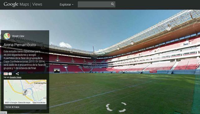 Mundial Brasil 2014: Recorré cada estadio en 360° con Google Maps