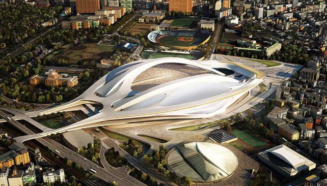 Así será el nuevo Estadio Nacional de Tokio para 2020.