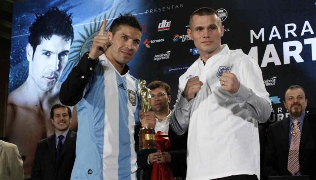 A las 23, el quilmeño y el británico subirán al ring de Vélez (Foto: DYN).