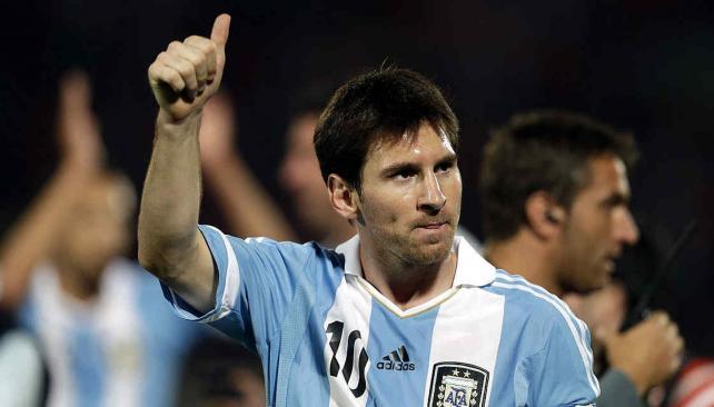 """Messi, el hombre """"más feliz del mundo"""". (Foto: Sergio Cejas/archivo)"""