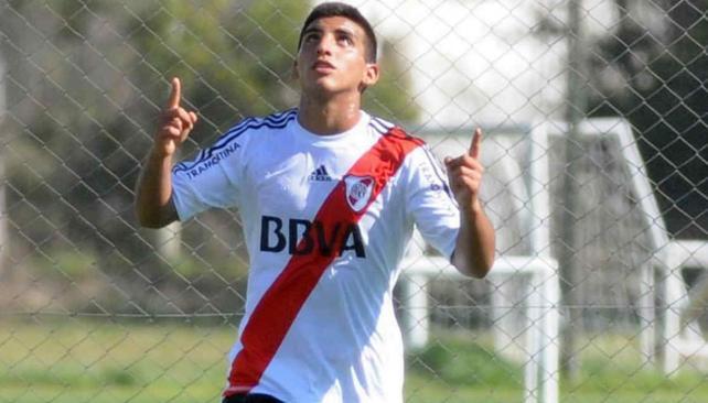 Kaprof, autor de uno de los goles de River ante Belgrano en reserva.