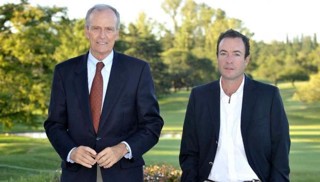 A la cabeza. Manuel Tagle, presidente del Córdoba Golf Club, y Germán Vazquez Cuestas, gerente de la institución, entusiasmados con el torneo. // Foto: Antonio Carrizo