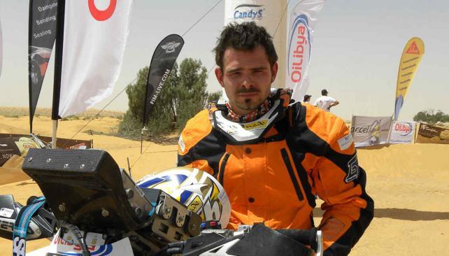 El francés Thomas Bourgin, fallecido en el Dakar 2013.