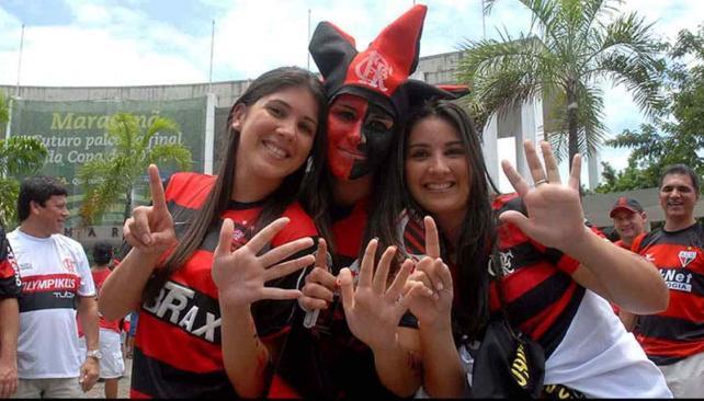 """Los """"torcedores"""" del Flamengo son mayoría en el mundo (Foto: AP)."""